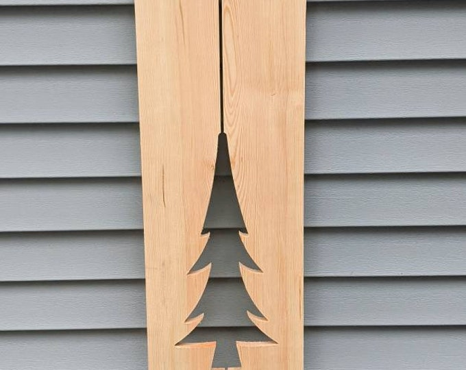 Exterior Shutter Large Pine Tree cutout: Customize your shutter height, to fit your windows