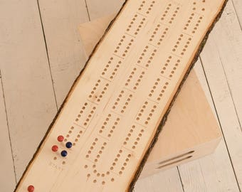 Cribbage Board- 2 player track on large live edge lumber