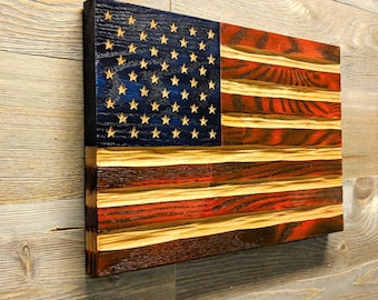 American Flag wall art, best selling items handmade, carved rustic flag, Veteran gifts, rustic wall decor, police wedding gift, military