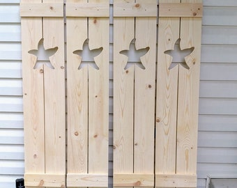 Exterior Starfish Shutter made of Pine perfect for your Cabin, cottage, or beach house great nautical decor