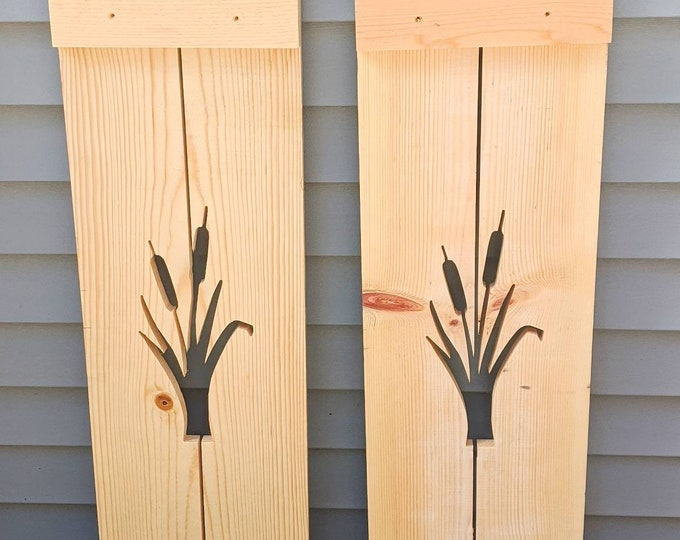 Cattail Exterior Shutter: Customize your shutter height, and design (price per shutter. Includes shipping)