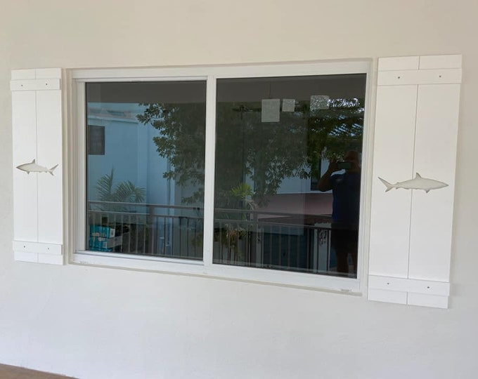 PVC Shark Exterior Shutter: Customize your shutter height