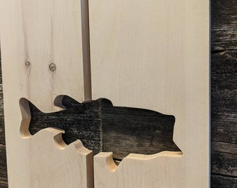 Exterior Bass Shutter made of Pine perfect for your Cabin, cottage, or beach house great rustic northwoods decor