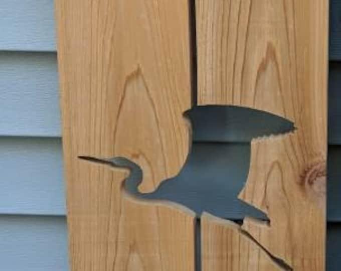Cedar Heron Exterior Shutter: Customize your shutter height
