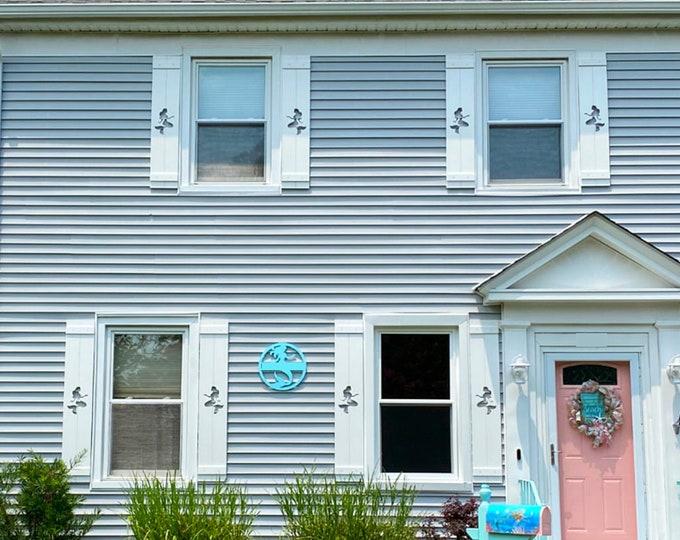 PVC Mermaid Exterior Shutter: Customize your shutter height