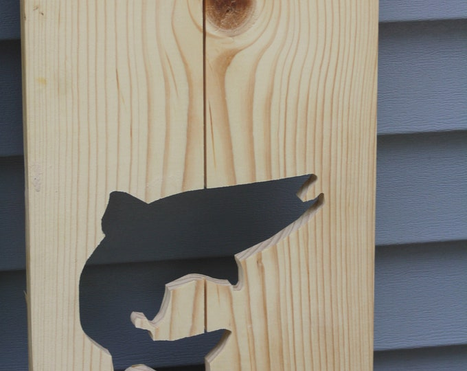 Exterior Trout Shutter made of Pine perfect for your Cabin, cottage, or beach house decor