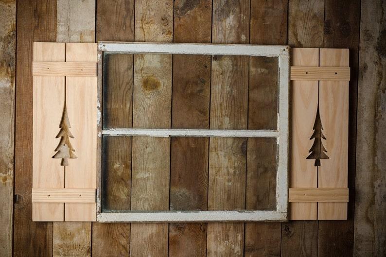 Pine Tree Exterior Shutter Made Of Pine Wood