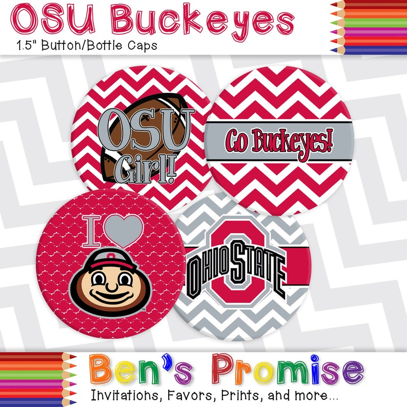 Digital diy Ohio State Buckeyes OSU 1 5