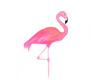 The Flamingo Illustration Design Print