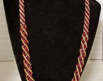 RED QUEEN dutch spiral necklace