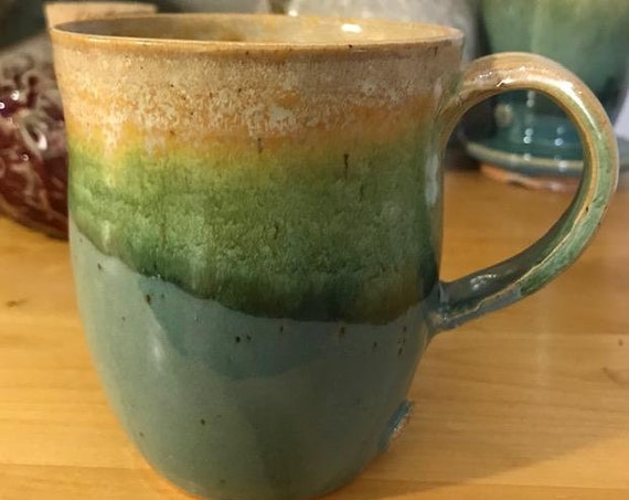 Colorful Striped Ceramic Mug