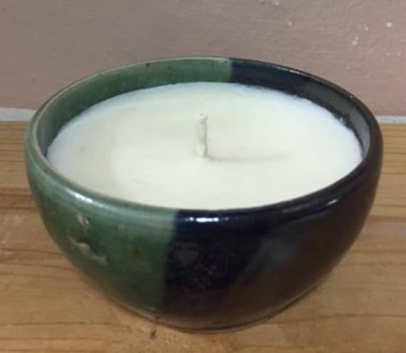 Small Hand Poured Candle in Beautiful Ceramic Bowl