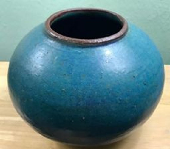 Rich Mediterranean Blue Ceramic Pot