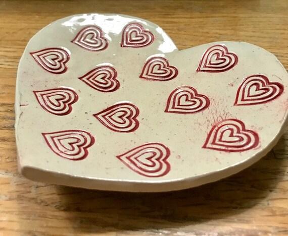 Be Mine Valentine Lovely Ceramic Heart Plate