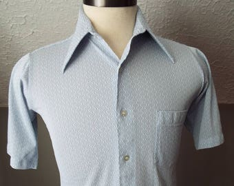 Vintage Short Sleeve Button Down Shirt by Van Heusen