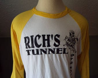 Vintage Rich's Tunnel Ringer Jersey T-Shirt by Russell Athletic