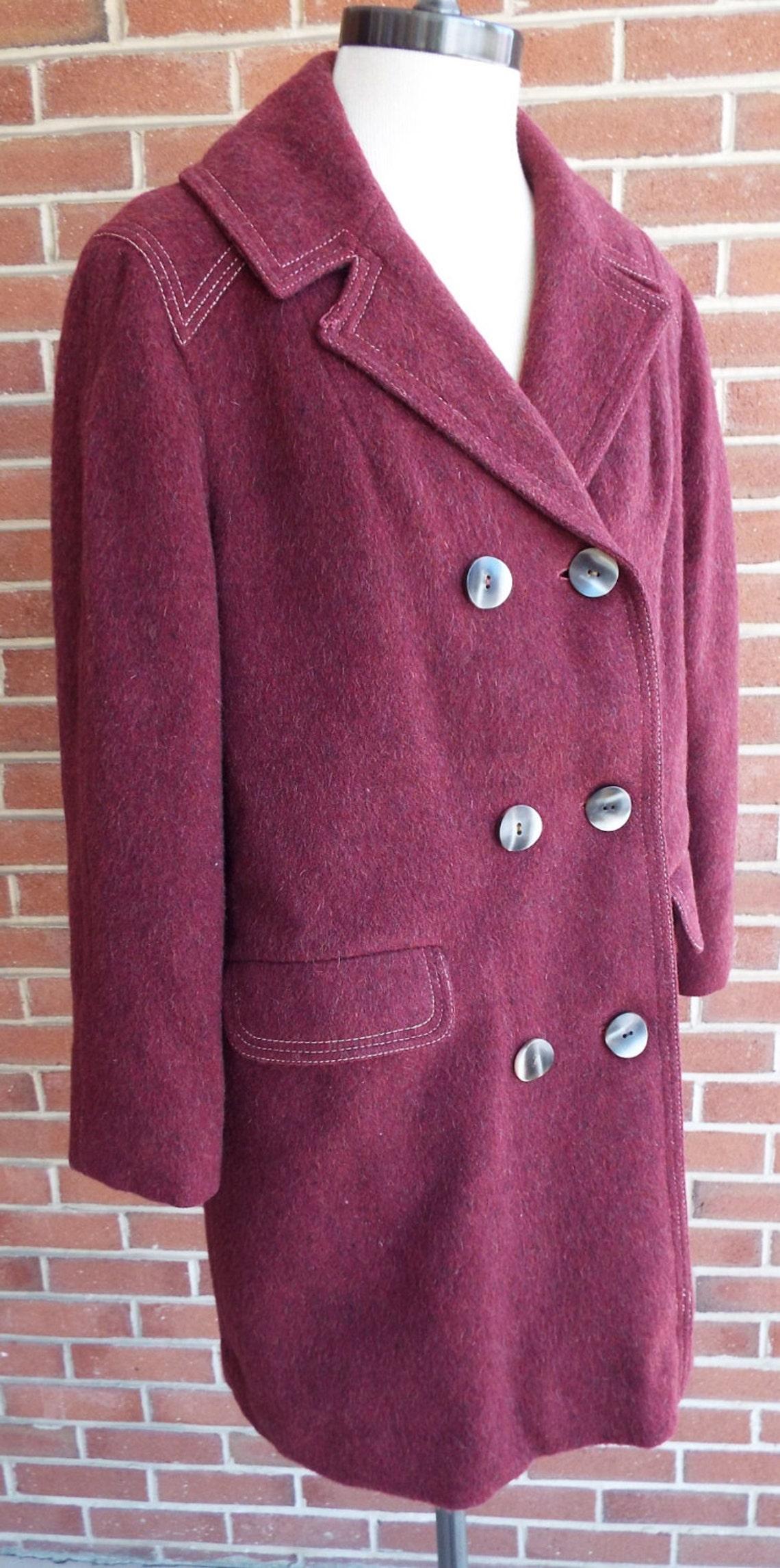 Amazing Vintage Maroon Coat By American Bazaar
