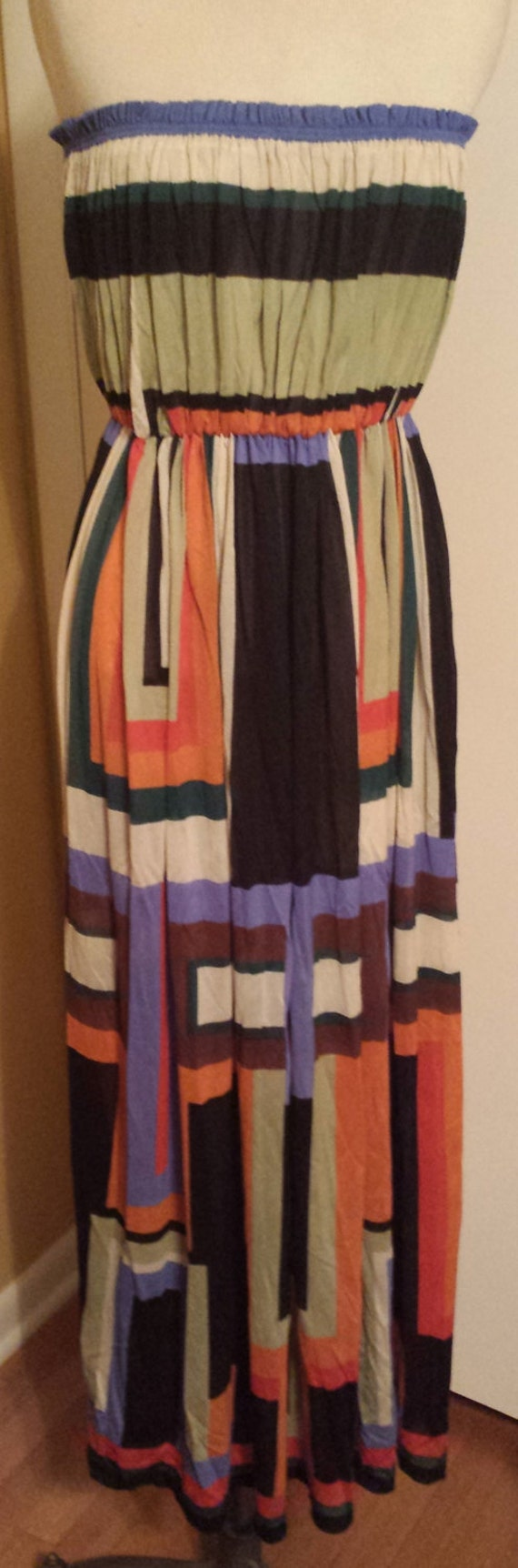 Vintage Strapless Gottex Beach Wear Dress from the