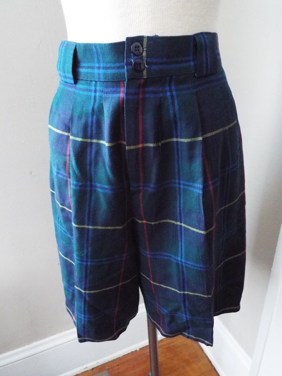 Vintage Plaid Tartan Shorts by Giorgio Sant'Angelo