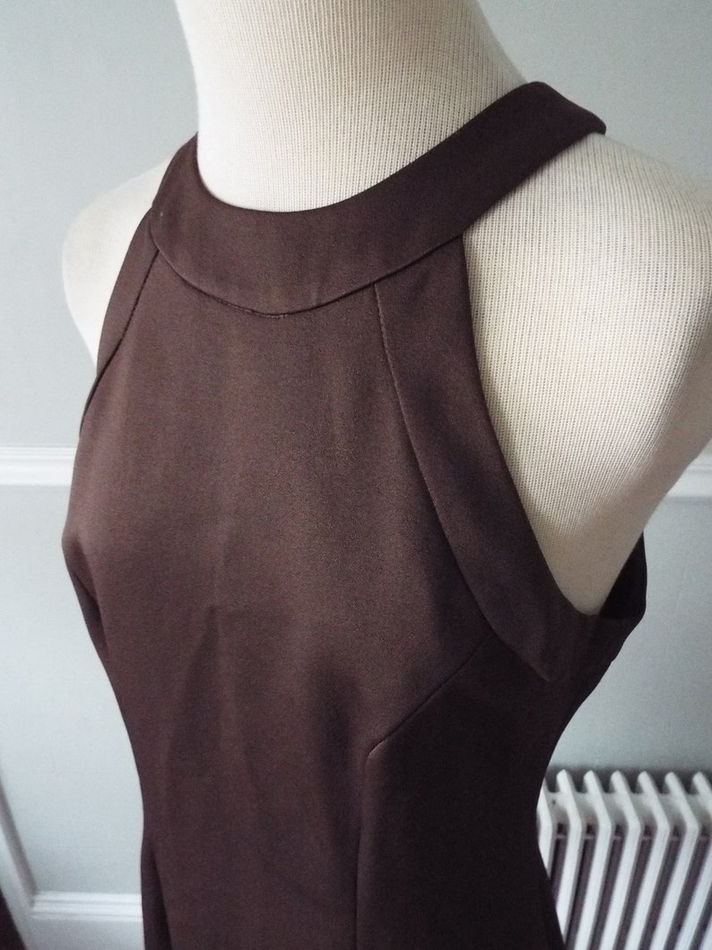 Vintage Sleeveless Brown Dress by Guess