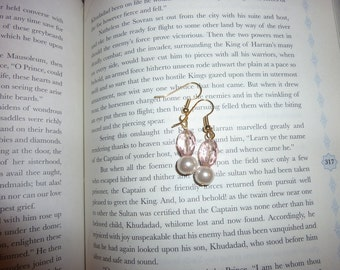 Pale Pink and Pearl Earrings