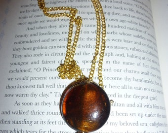 Gorgous Amber Colored Stone Necklace