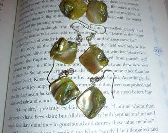 Unique Green Stone Earrings