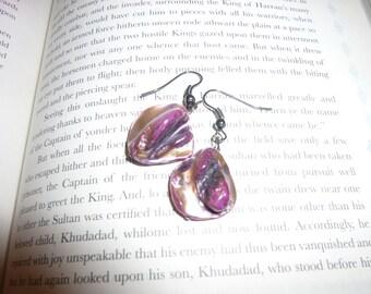 Unique Pink-Purple Stone Earrings