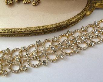 BRIDAL HEADBAND, GOLD Headband, Rhinestone Headband, Gold Tiara, Gold Crown