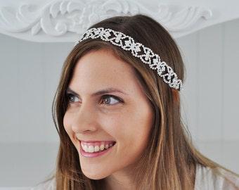 WEDDING HEADBAND, Bridal Headpiece, Wedding Headpiece, Bridal Swarovski Headpiece