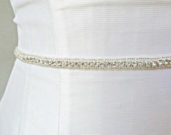 Bridal Sash, Wedding Sash, Swarovski Sash, Bridal Belt, Satin Sash, Wedding Belt