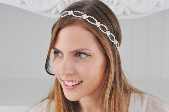 BRIDAL SWAROVSKI HEADBAND Wedding Headpiece  2fe8bb972c7