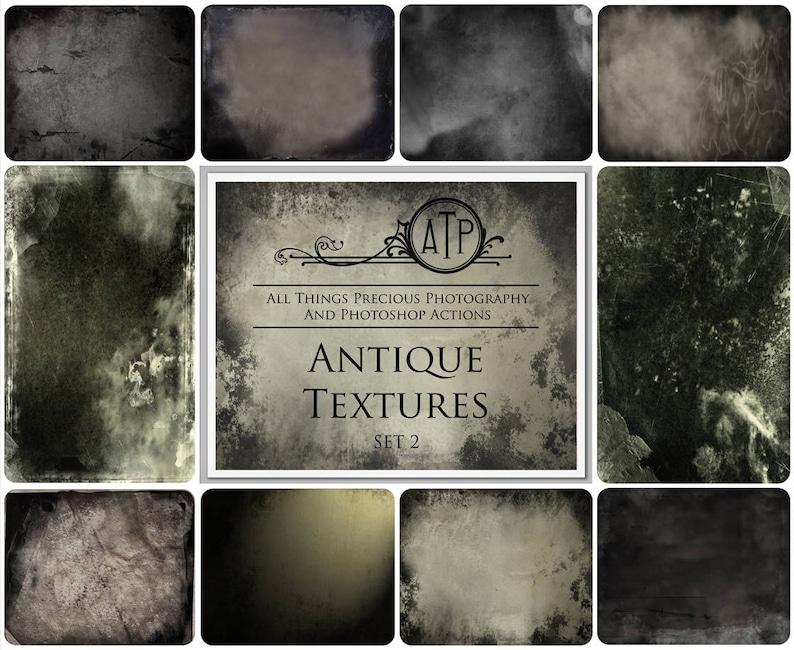 10 Fine Art TEXTURES  VINTAGE ANTIQUE Set 2 / Photoshop image 0