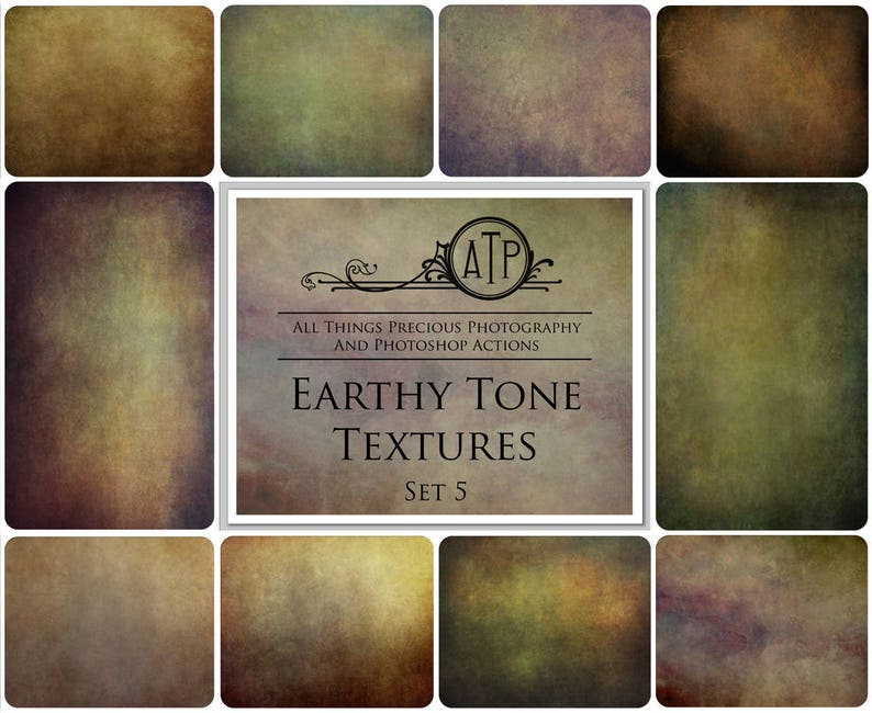 10 Fine Art TEXTURES  EARTHY TONE Set 5 / Photography image 0