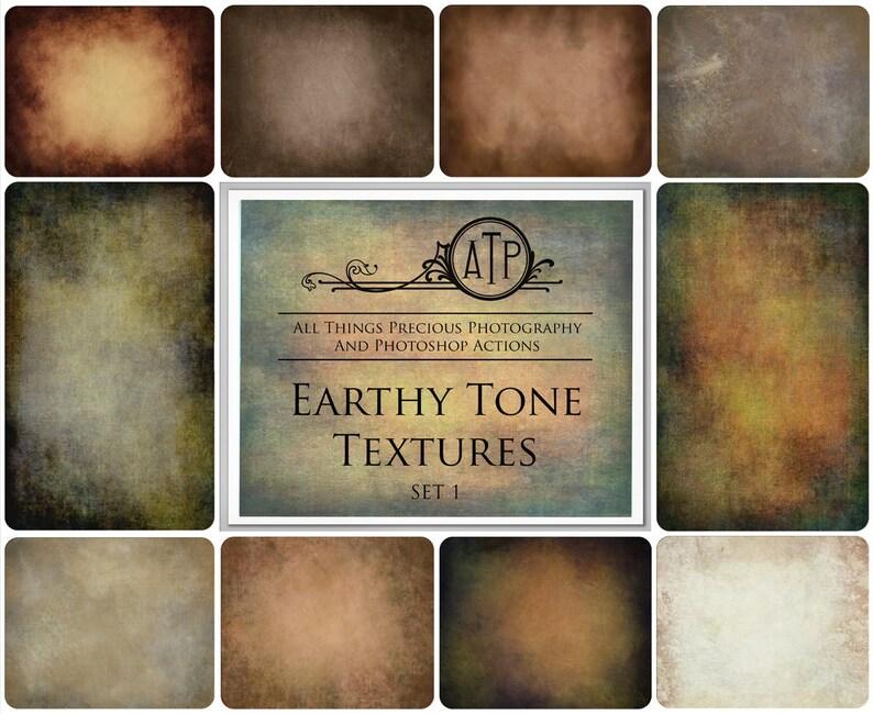 10 Fine Art TEXTURES EARTHY TONES Set 1  / Textured image 0