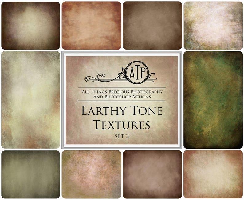 10 Fine Art TEXTURES  EARTHY TONES Set 3 / Canvas Texture image 0