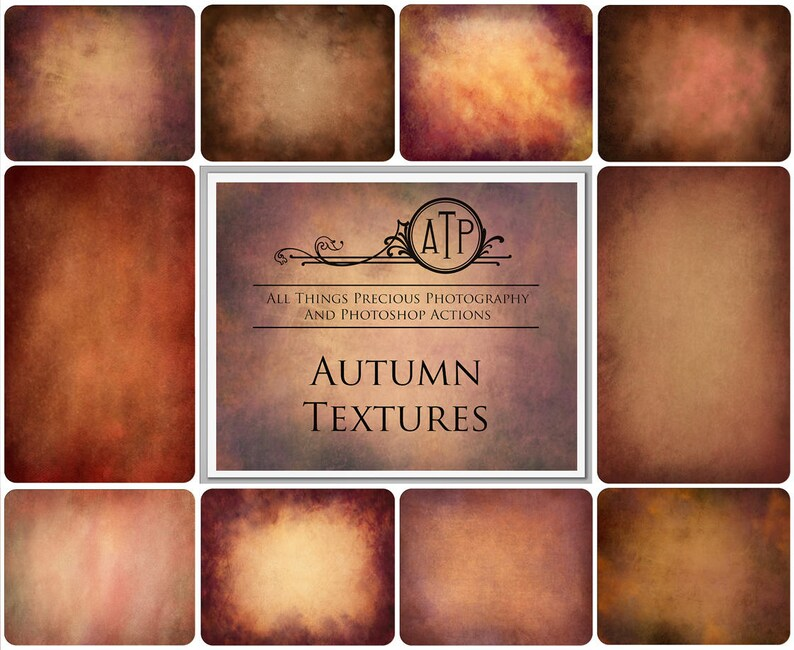 10  Fine Art AUTUMN / Fall Textures Set 1 /  Digital image 0