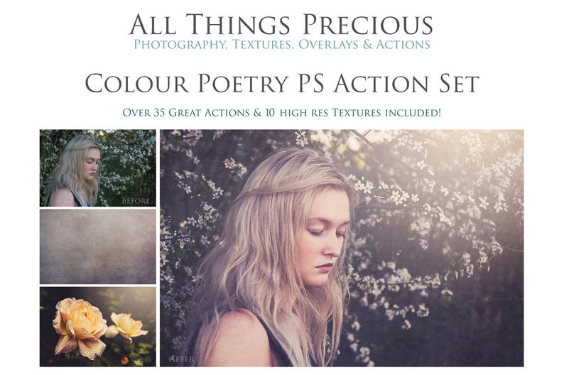Over 40 Fine Art Digital COLOUR POETRY Photoshop Actions with image 0
