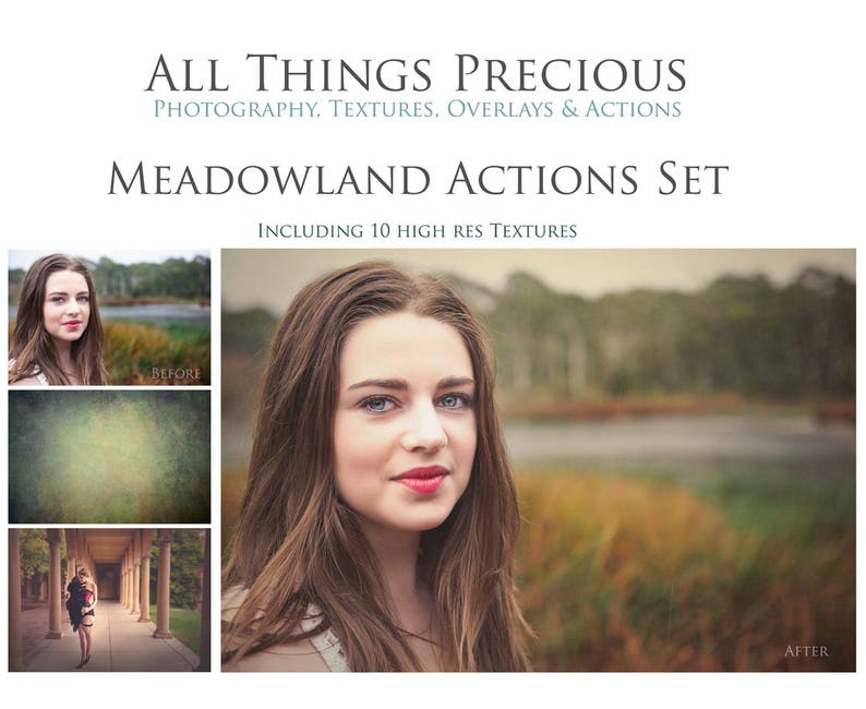 45 Actions. 10 Textures. Fine Art Digital MEADOWLAND ACTIONS / image 0