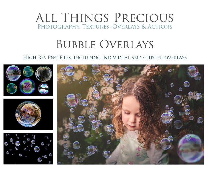 28 BUBBLE OVERLAYS /  High Resolution Digital Photography image 0