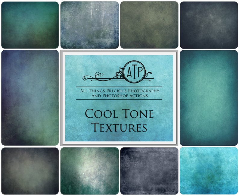 10 Fine Art TEXTURES  COOL Set 1 / Photography High Res image 0