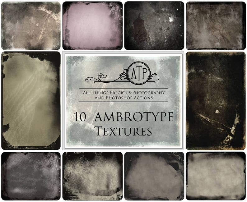 10 Fine Art TEXTURES   AMBROTYPE / Overlays Photography image 0