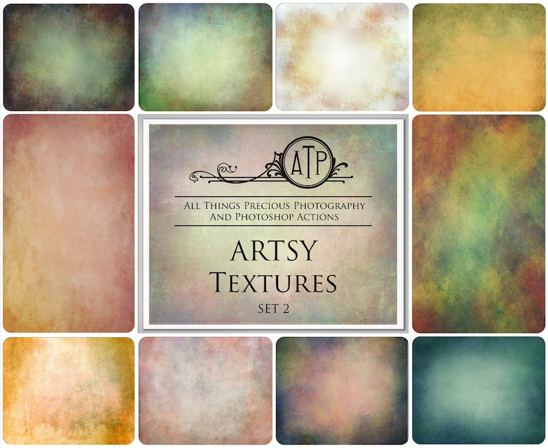 10 Fine Art TEXTURES  ARTSY Set 2  / Photography Overlay image 0