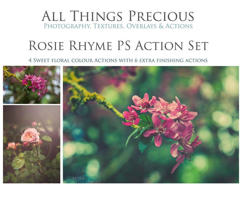 10 PHOTOSHOP Actions  ROSIE RHYME / Digital Photography image 0