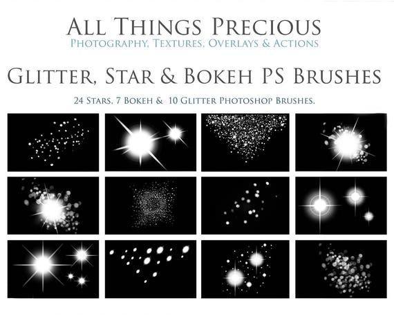 Fine Art Numérique Glitter Star Et Photoshop Bokeh Brosses Ensemble Photographie Scrapbooking Photoshop éléments