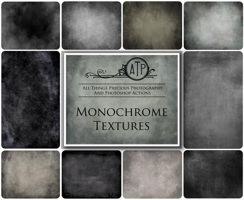 10 Fine Art TEXTURES  MONOCHROME Set 1 / Photoshop Overlays image 0