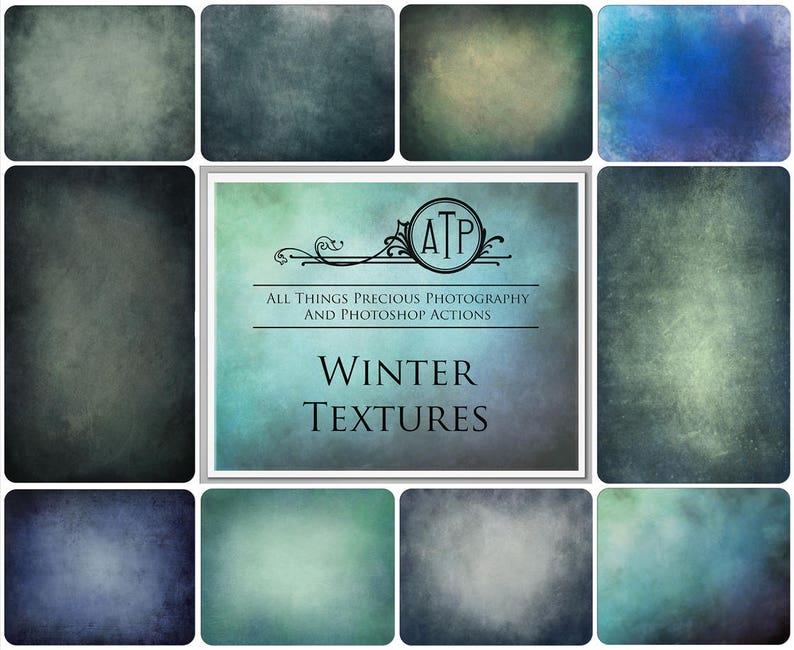 10 Fine Art TEXTURES  WINTER Set 1  / Digital Texture image 0