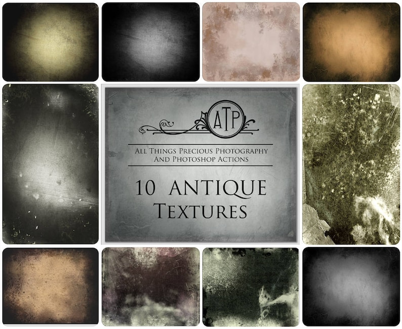 10 Fine Art TEXTURES  VINTAGE ANTIQUE Set 1 / Photoshop image 0