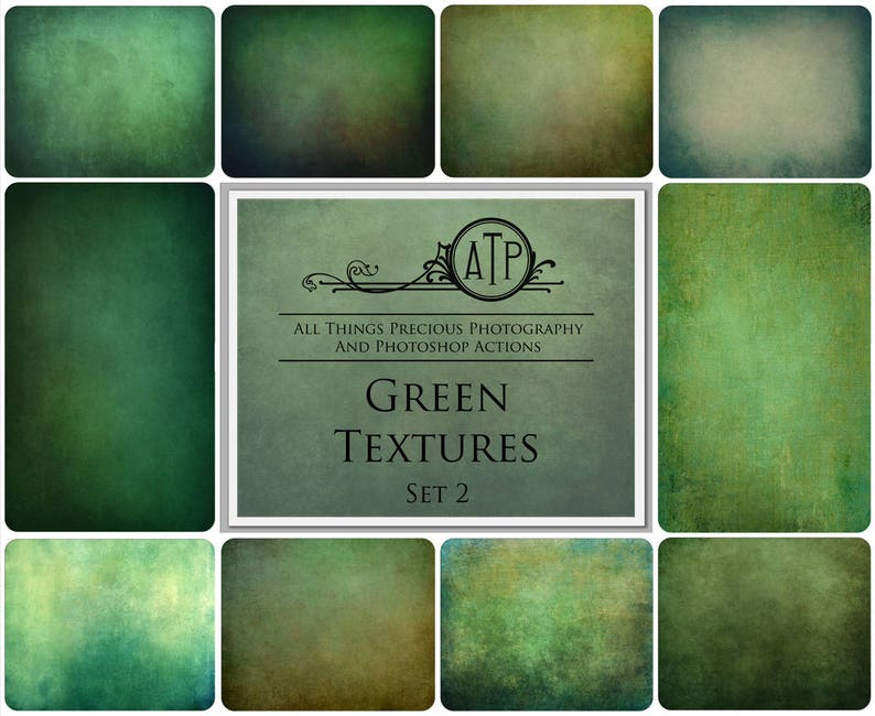 10 Fine Art TEXTURES  Green Set 2  Textured Background High image 0