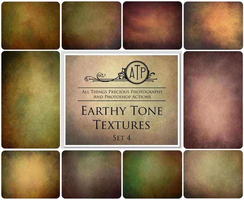 10 Fine Art TEXTURES  EARTHY TONE Set 4 / Photography image 0